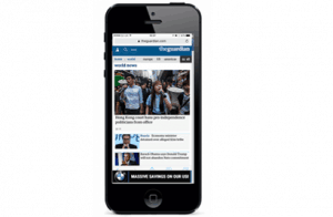 Our responsive HTML 5 ads work on mobile thanks to the localstars ad platform
