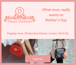 example digital ad mother's day afternoon tea